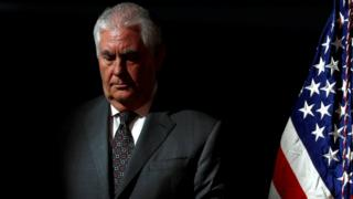 Rex Tillerson in Chantilly, Virginia, October 5 2017