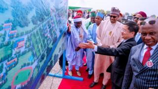 Wen Buhari bin dey perform die groundbreaking ceremony for University of Transportation in Daura, on Monday 3 December, 2019