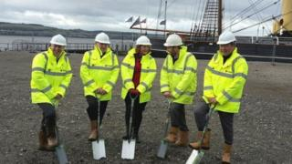 V&A Dundee groundbreaking