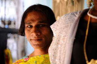 Retrato de eunuco na Índia