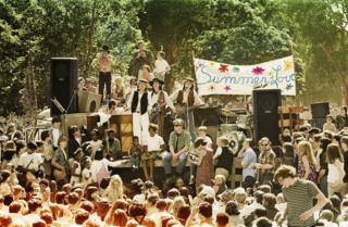 The Charlatans playing at the Summer of Love concert in Golden Gate Park, San Francisco, 1967