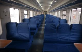ट्रेन के भीतर का दृश्य