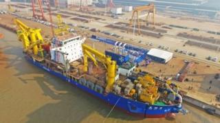 """เรือขุด """"เทียนคุนเฮ่า"""" ลำใหม่ล่าสุดของจีน"""