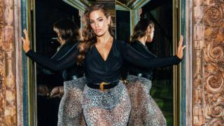 Ashley Graham models her collection for Boohoo brand PrettyLittleThing