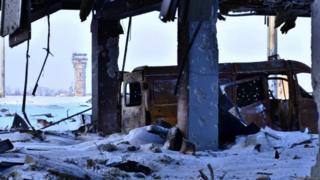 Вежа донецького аеропорту. Фото бійця 95-ї бригади ЗСУ, який брав участь у боях там у листопаді та грудні 2014 року.