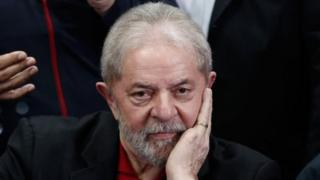 This file picture taken on July 13, 2017 shows former Brazilian president Luiz Inacio Lula Da Silva offering a press conference in Sao Paulo, Brazil.