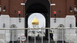 نمایی از کاخ کرملین محل اقامات رسمی رئیس جمهور روسیه