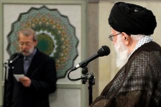 سخنرانی علی لاریجانی رییس مجلس در جلسه دیدار با رهبر ایران