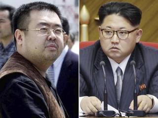 นายคิม จอง นัม (ซ้าย) และนายคิม จอง อึน (ขวา)