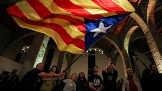 Празднования на улицах Барселоны