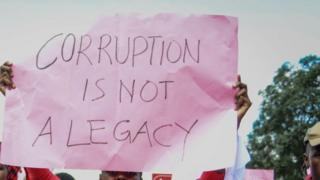 Protest against corruption