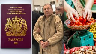 A British passport, El Chapo and vegetables being weighed