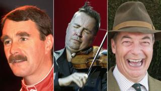 Nigel Mansell, Nigel Kennedy and Nigel Farage