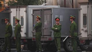 Bảo vệ an ninh cho phiên tòa xử ông Đinh La Thăng, Trịnh Xuân Thanh ở Hà Nội ngày 8/1