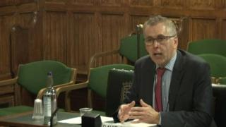 David Sterling appearing in front of the Northern Ireland Affairs committee