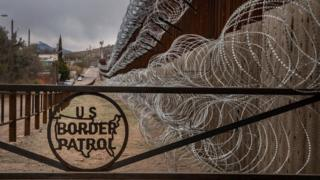 Metal fence for di US border