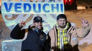 Тимати и Рамзан Кадыров на чеченском горнолыжном курорте Ведучи