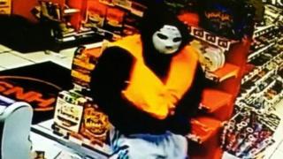 Ski masked raider in Spar store, Neath