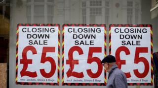 Closing down sale on the UK high street