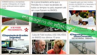Mensagens de WhatsApp sobre o BNDES compartilhadas nas vésperas do segundo turno das eleições 2018, coletadas pelo Projeto Eleições Sem Fake
