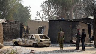 Une localité frappée par Boko Haram dans le Nord Est du Nigeria (Photo d'archive)