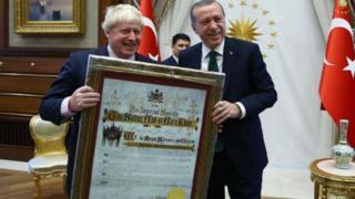 Boris Johnson ve Tayyip Erdoğan