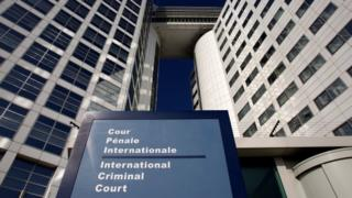 The entrance of the International Criminal Court (ICC) is seen in The Hague, Netherlands March 3, 2011