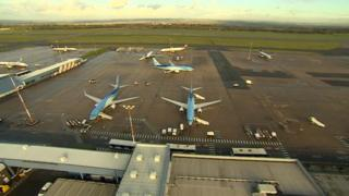 Planes at East Midlands Airport