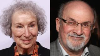 Margaret Atwood and Salman Rushdie