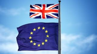 欧盟旗与英国旗