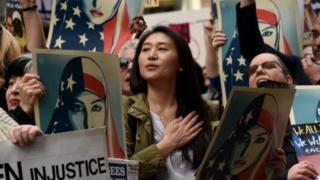 تظاهرات در نیویورک علیه فرمان مهاجرتی ترامپ