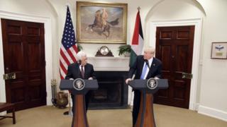 محمود عباس و دونالد ترامپ