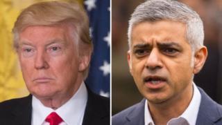 ABD Başkanı Donald Trump ve Londra'nın ilk Müslüman Belediye Başkanı Sadiq Khan