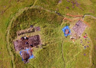Aerial image of Dun Deardail hill fort