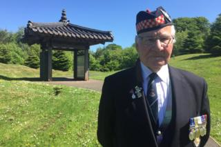 01 Adam McKenzie, 90, deployed in Korea with the Argyll and Sutherland Highlanders.JPG