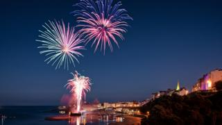 Fireworks light up the sky at the recent Tenby Spectacular event, taken by Mathew Browne