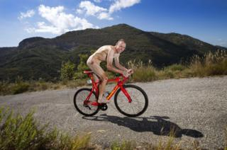 Chris Froome on his bike