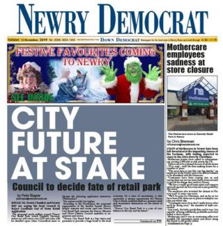 The front page of the Newry Democrat