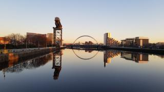 A view of the Clyde in Glasgow city centre