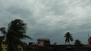 Heavy winds near Kolkata