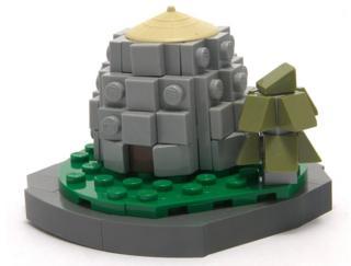 Micro Lego broch