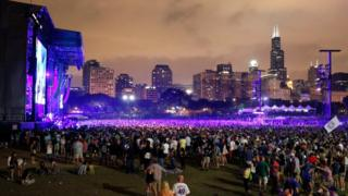A view of the Samsung Stage at Lollapalooza 2016