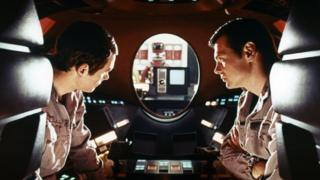 Actors Gary Lockwood and Keir Dullea in 2001: A Space Odyssey