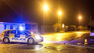 Emergency scene at Bann Road, near Ballymoney, on 13 November 2016