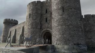 Virtual model of Sheffield Castle