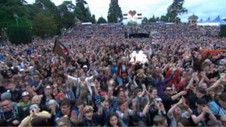 Crowd at the main stage at Belladrum