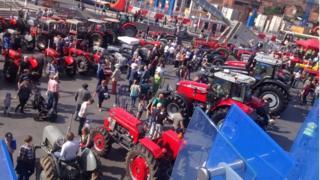 Massey Ferguson tractor parade