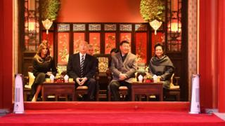 Dùng trà trong Tử Cấm Thành: Hai nhà Trump và Tập trong ngày đầu chuyến thăm của Tổng thống Mỹ sang Bắc Kinh 08/11/2017