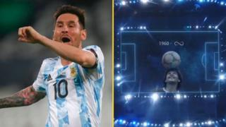 Lionel Messi and Maradona tribute