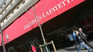 Galeries Lafayette store in Paris (file pic)